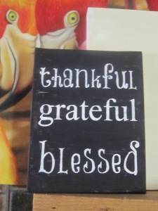 "Thankful Sign 8x10"" Canvas Sign $15"