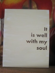 """It is Well 8.5x11"""" Canvas $30"""