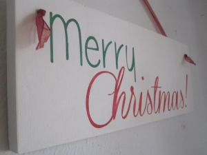 "Merry Christmas Sign 6""x13"" wood sign $15"